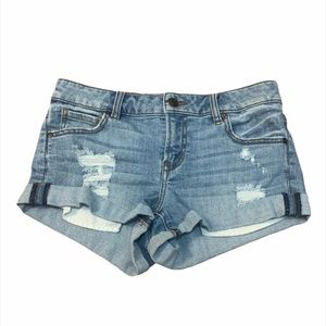 ▪️Pistola Cuffed Hem Distressed Jean Shorts